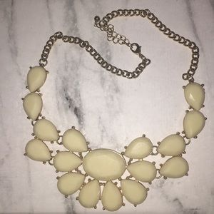 Cream & Gold statement necklace